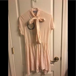 Wild Fox long shirt/short dress. Button down w/tie